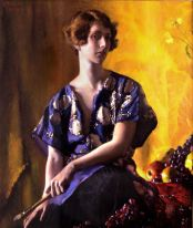 Self Portrait: The Algerian Tunic, 1927, Oil on canvas, 35 x 30 inches. Private collection