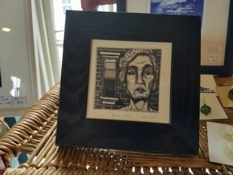 Alice Neel portrait by Mary Rhinelander