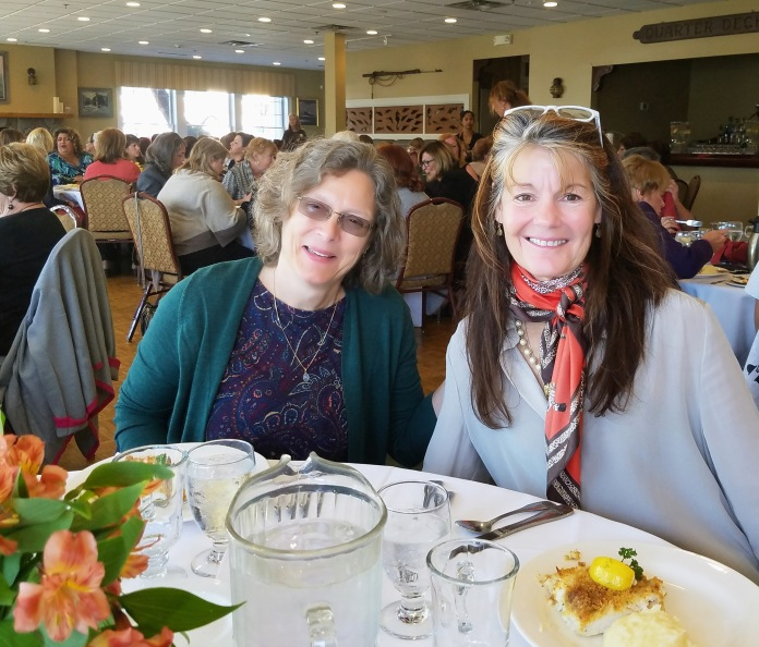 Cape Ann Chamber members: Left - physician Laura Jett, (R) Kaethe Flynn (owns CABI business and PT for 30 years, Rockport