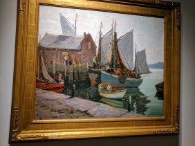 Anthony Thieme Rockport Waterfront ca1930s ROCKBOUND installation Cape Ann Museum ©c ryan 20170602_110420