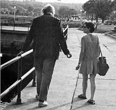 Charles Olson and Ann Charters walking on the Boulevard in Gloucester, Mass,1967 Photo credit Sam Charters. Author information from Small Press Distribution (SPD), spdbooks