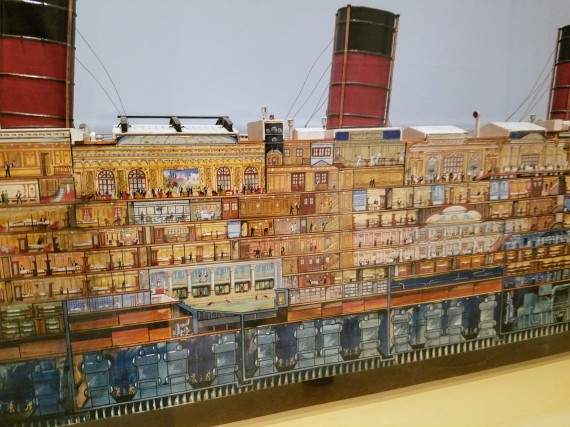 DETAIL cutaway model Berengaria by Montaque Birrell Black and model maker Bassett Lowke - Ocean Liners Installation Peabody Essex Museum © C Ryan 20170908_120543