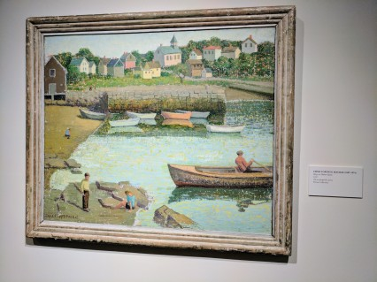 Emma Fordyce Macrae Boys on Harbor Rocks 1937 ROCKBOUND installation Cape Ann Museum ©c ryan 20170602_110346