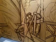 GASTON SUISSE 1937 LACQUER AND BRONZE detail MUSEE D'ART MODERNE DE LA VILLE Ocean Liners Installation Peabody Essex Museum © C Ryan 20170908_113657
