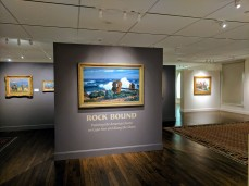 GIFFORD BEAL northeaster #2 Bass Rocks 1930s ROCKBOUND installation Cape Ann Museum ©c ryan IMG_20170602_105825