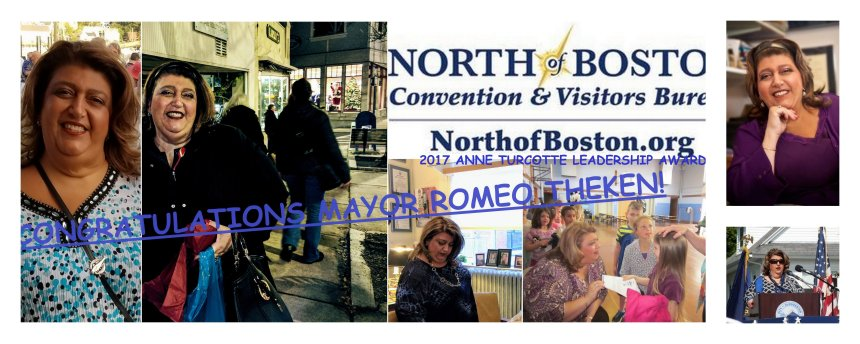 Gloucester MA MAYOR SEFATIA ROMEO THEKEN to receive North of Boston CVB 2017 Anne Turcotte Leadership Award on November 8