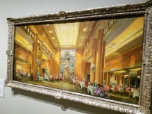 HERBERT DAVIS RICHTER view of the first class dining room Queen mary 1936 - Ocean Liners Installation Peabody Essex Museum © C Ryan 20170908_115846