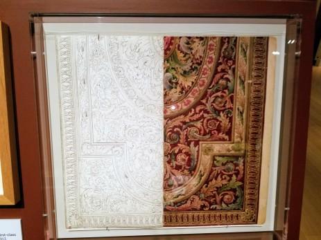 James Templeton & Company design for carpet first class Aquitania ca1913 - Ocean Liners Installation Peabody Essex Museum © C Ryan 20170908_115116