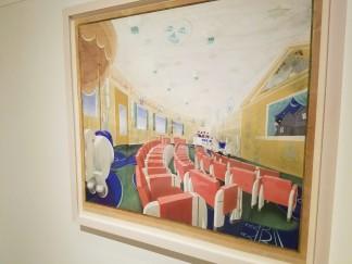 MARK SIMON design for 1st class Normandie playroom gouache 1935 - Ocean Liners Installation Peabody Essex Museum © C Ryan 20170908_120452