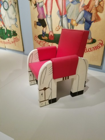 MARK SIMON design for 1st class Normandie playroom horse chair -Ocean Liners Installation Peabody Essex Museum © C Ryan 20170908_120500