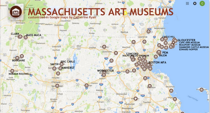 Museums in Massachusetts in google maps by Catherine Ryan.jpg