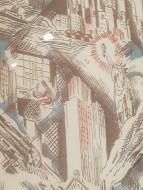 RUTH REEVES Manhattan 1930 printed voile Victoria and Albert Museum DETAIL - Ocean Liners Installation Peabody Essex Museum © C Ryan 20170908_121307