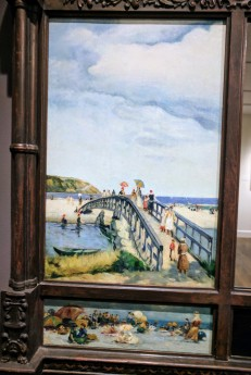 UNATTRIBUTED left panel over mantel view of Good Harbor Beach ca1920 ROCKBOUND installation Cape Ann Museum 20170602_110607 (1)