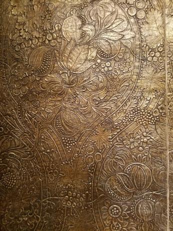 William Scott Morton, tynecastle tapestry, DETAIL, Victoria and Albert Museum - Ocean Liners Installation Peabody Essex Museum © C Ryan 20170908_115039