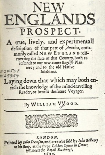 William Wood title page collection University of California