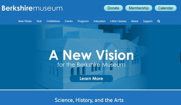Berkshire museum new branding now has arts last