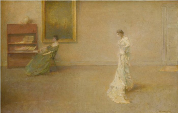 Berkshire Museum Thomas Wilmer Dewing The White Dress Sotheby's Lot 13