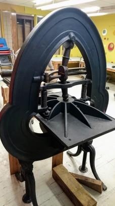 ©Brett Dunton newly installed famous Acorn press O'Maley Innovation Middle School, Gloucester DSC_2211