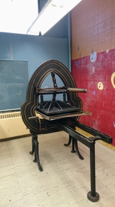 ©Brett Dunton newly installed famous Acorn press O'Maley Innovation Middle School, Gloucester DSC_2213