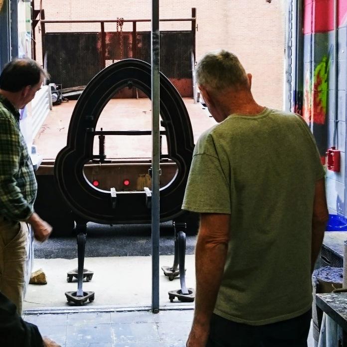 ©Brett Dunton newly installed famous Acorn press O'Maley Innovation Middle School, Gloucester IMG_20171116_130109