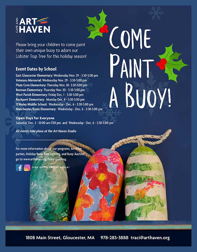 Cape Ann Art Haven paint a b uoy dates announced