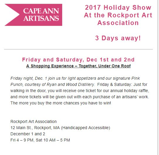 Cape Ann Artisans at Rockport Art Association