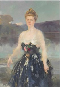 Cecilia Beaux, 1916 portrait of Mrs. Albert J Beveridge Christie's online American auction ends Nov 21 2017 bids open at $12,000