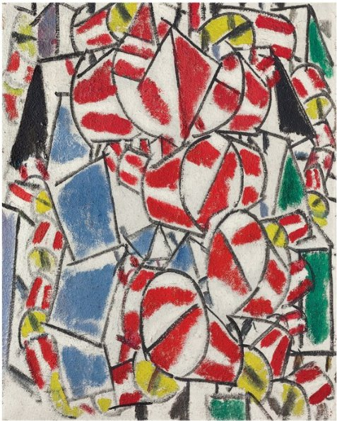 Christies Leger record breaker Fernand Léger (1881-1955), Contraste de formes, 1913. 36⅜ x 28⅞ in (92.4 x 73.2 cm). Sold for $70,062,500 in the Impressionist & Modern Art Evening Sa