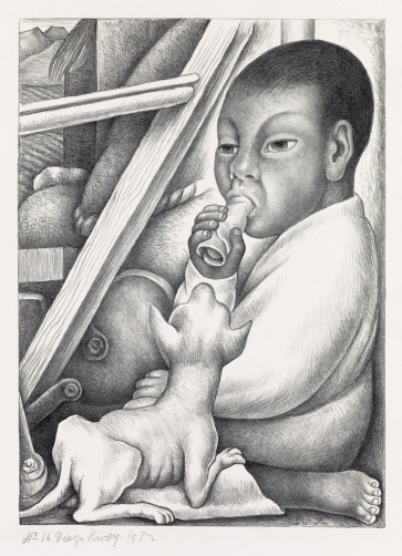 Diego Rivera El nino with taco did not sell est 10 to 15000