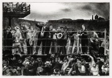 George bellows Introducnig Georges Carpentier ed50 1921 litho carpentier dempsey boxing fight sold for $8125