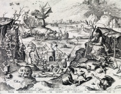 Hieronymus Bosch after 1561 engraving by Doetecum unsold at Swann est 40 to 60 thousand