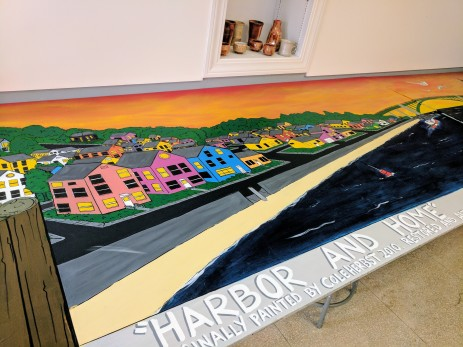 Jason Burroughs worked on Harbor and Home at the HIVE space, Cape Ann Art Haven