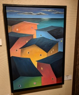 Scott Tubby, New Moon, oil, Rockport Art Association