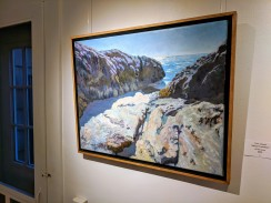 Tom Amend, Abrupt Transition, Oil on linen, new members group exhibition, Rockport Art Assocaition