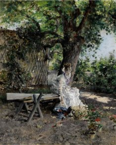 James Prendergast Library Giovanni Boldini Italian In the Garden est 400 to 600000