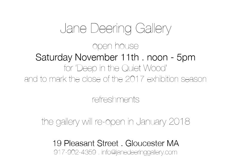 Jane Deering closing show for Deep in the quiet Wood