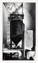 Lozowick Tanks #1 1929 lithograph ed50 sold for $2750 est 3 to $5000