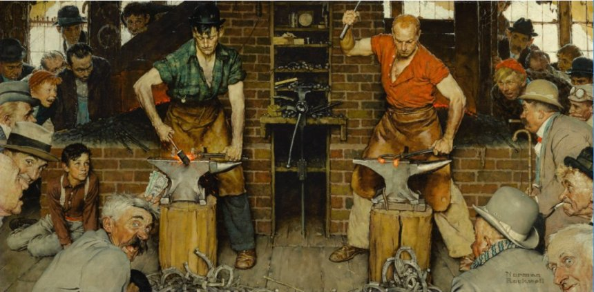 Norman Rockwell Blacksmith 1940 Berkshire Museum potential Sothebys sale.jpg