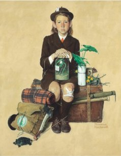Norman Rockwell. Girl Returning from Camp. 1940. Christie's presale estimate is 2 million - 3million