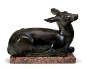 Paul Howard manship 1885-1966 Lying Doe cas 1932 est 300 to 500000