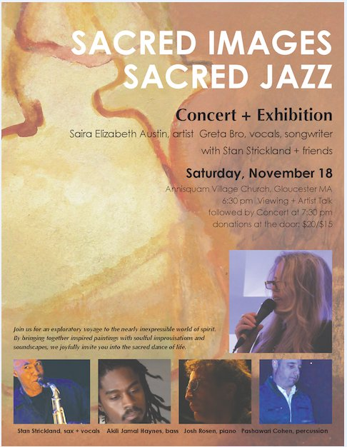 Sacred Images Sacred Jazz concert and exhibition