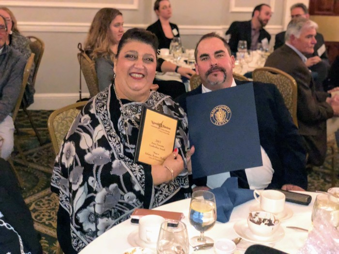 Sefatia and Matt North of Boston CVB gala and awards Nov 8 2017 Hawthorne Hotel Salem ©Office of Mayor Romeo Theken