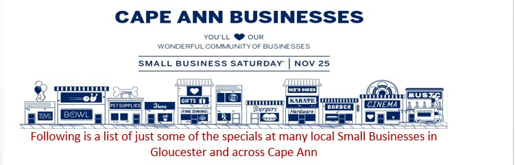 Small Business Saturday 2017 specials