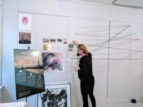 Stephanie Benenson, artist studio, discussing 2017 Harbor Lights 20171122_090804