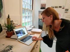 Stephanie Benenson, artist studio, discussing 2017 Harbor Lights