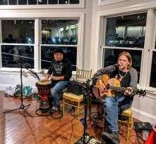 Taste of Cape Ann YMCA Fine musicians Musicians were John Jerome on guitar and vocals, Steve Jerome on Drums 20171109_182932