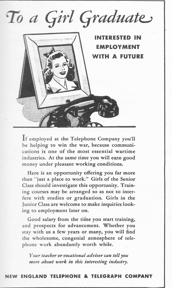 Telephone yearbook ad