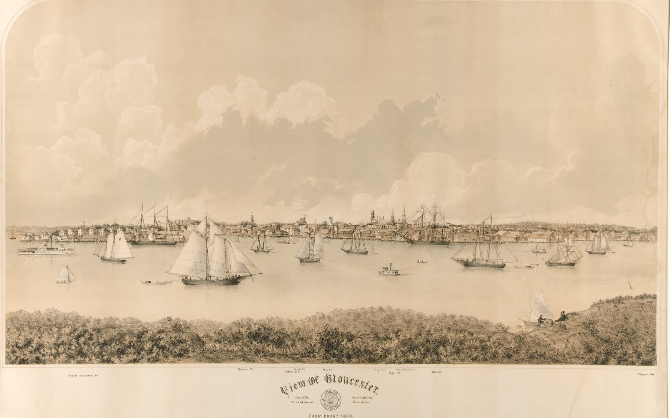 view of gloucester from rocky neck