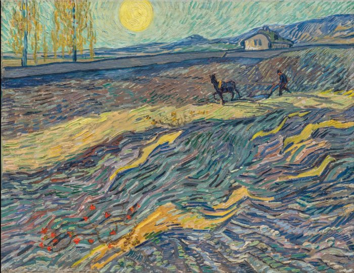 Vincent van Gogh (1853-1890), Laboureur dans un champ, painted in Saint Rémy, early September 1889. 19⅞ x 25½ in (50.3 x 64.9 cm). Sold for $81,312,500 in the Impressionist & Modern