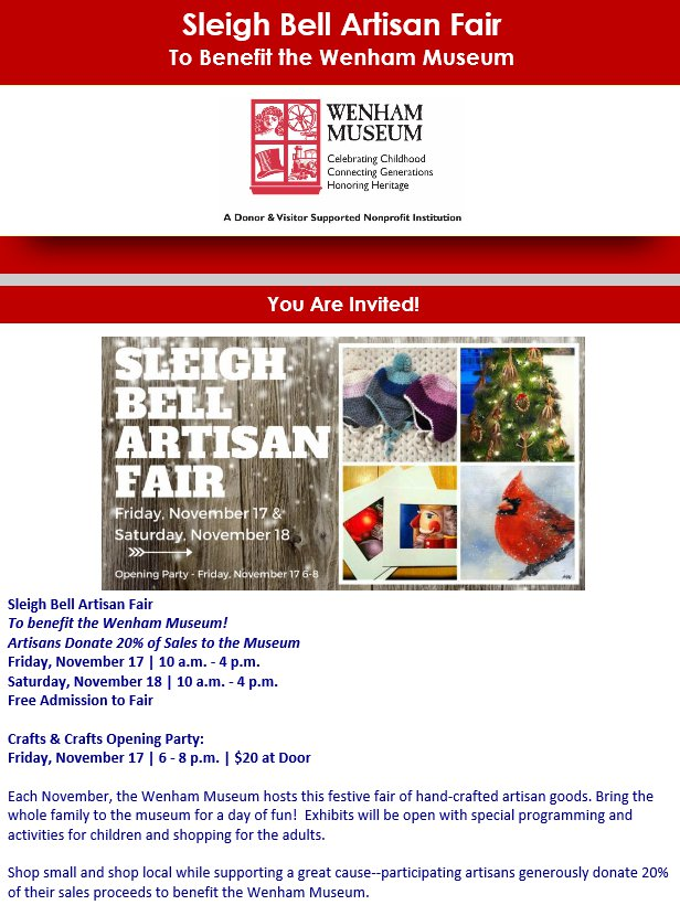 Wenham Museum sleigh bell artisan fair.jpg